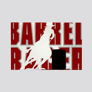 BARREL RACER [maroon] Rectangle Magnet